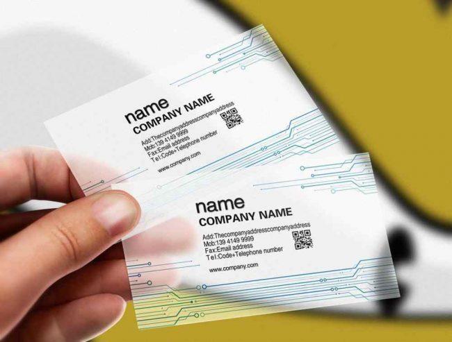 透明名片,印刷,設計,印製,排版