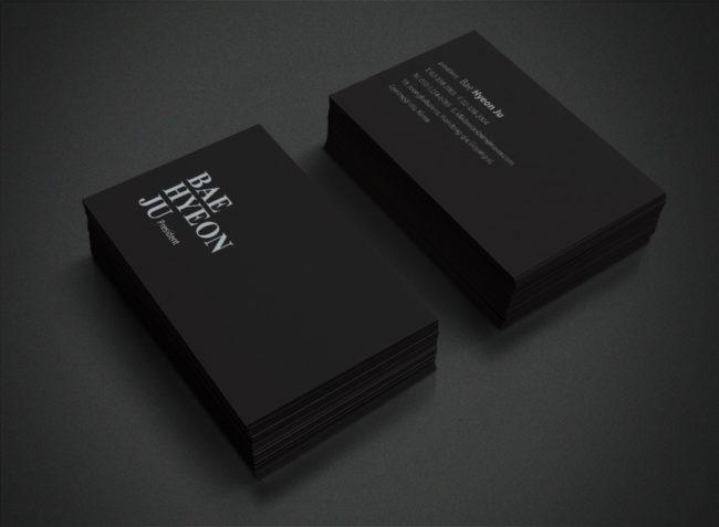 黑質感名片