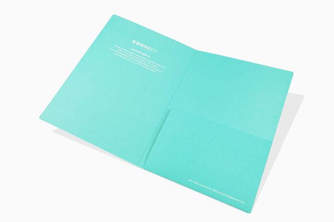 A5特別色燙銀資料夾印刷