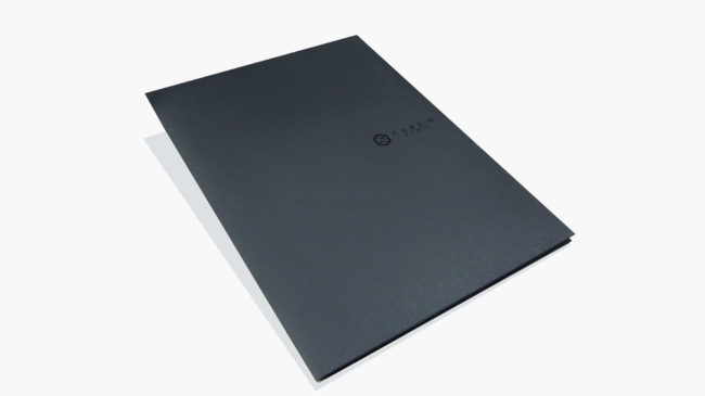 黑紙質感A4資料夾